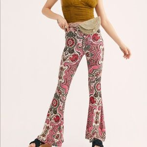 ❤️Free People Harper Printed Pull-on Pants